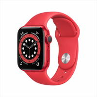 AppleWatch Series 6 GPS, 40mm (PRODUCT)RED 알루미늄 케이스, 그리고 (PRODUCT)RED 스포츠 밴드
