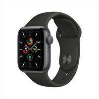 Apple Watch SE GPS, 40mm 스페이스 그레이 알루미늄 케이스, 그리고 블랙 스포츠 밴드
