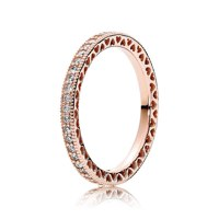 PANDORA ROSE RING WITH CLEAR CUBIC ZIRCONIA 54호