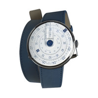 [KLOKERS] KLINK-02-380C3 STANDARD DOUBLE STRAP, 18MM, 380MM, INDIGO BLUE