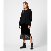 BRIDGETTE VELVET SKI / Black / Size 8