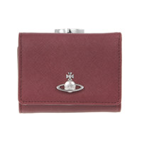 VICTORIA SMALL FRAME WALLET BURGUNDY