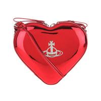 JOHANNA HEART CROSSBODY BAG RED