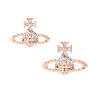 MAYFAIR BAS RELIEF EARRINGS PINK GOLD