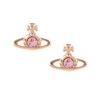 NANO SOLITAIRE EARRINGS PINK GOLD