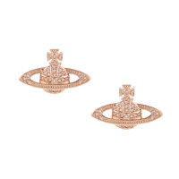 MINI BAS RELIEF EARRINGS PINK GOLD
