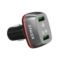 파워드라이브+2 차량용충전기 Quick Charge 3.0 A2224 블랙