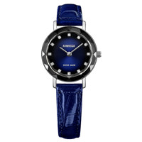 Aura Silver Black to Blue Gradations Leather Blue 26 mm