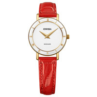 Roma Gold White Leather Red 26 mm