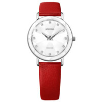 Facet Silver White Leather Red 30.5 mm