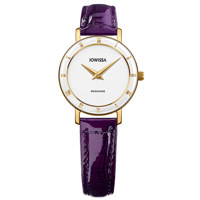 Roma Gold White Leather Purple 26 mm