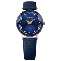 Facet Rose Blue Leather Blue 30.5 mm
