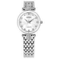 Facet Strass Silver White Mesh Band Silver 25 mm