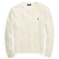 케이블 울캐시미어 스웨터 / S