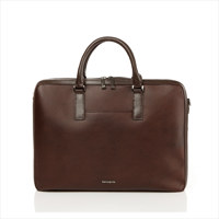 CARNED BRIEFCASE BROWN