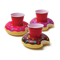 frosted donut beverage boats