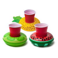 tropical fruits beverage boats