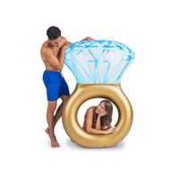 giant bling ring pool float
