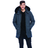 Mens Stirling Parka/ Granite Black F/ L