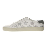 Embellished leather sneakers 36