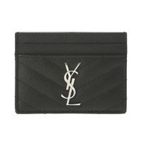 YSL CREDIT CARD HOLD BLACK