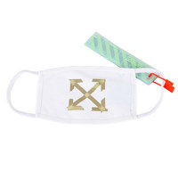 TAPE ARROW MASK WHITE BEIGE