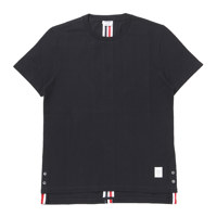 RELAXED FIT SS TEE W/ CB RWB STRIPE IN CLASSIC PIQUE 0