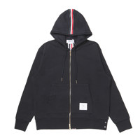 HOODIE ZIP-UP PULLOVER IN CLASSIC LOOPBACK WITH CB RWB STRIPE 2