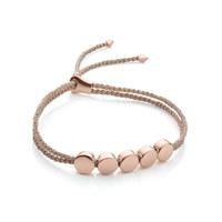 RP Linear Bead Friendship Bracelet - Rose Gold Metallica
