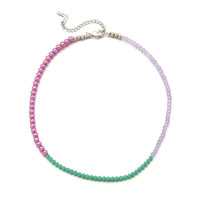Color Spread Beads Necklace_Violet