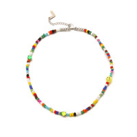 Cool Summer Smile Beads Necklace