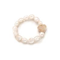 Chubby Heart Pearl Bracelet