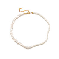 Half n Half Pearl Necklace