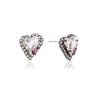 Heart Crystal Post Earring
