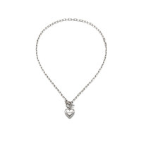 Love Lock Heart Necklace_Silver