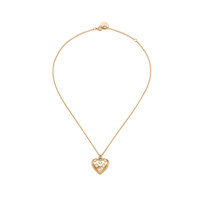 Heart Button Necklace_Gold