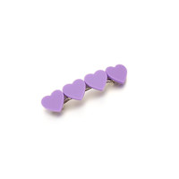 Heart Layered Hairpin_Violet
