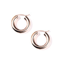 bold pipe ring earring