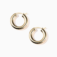 bold pipe ring earring_yellow