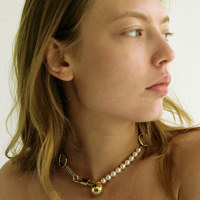 chain and ring choker PEARL