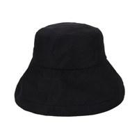[바잘 벙거지 모자] 메탈 팁 오버핏 버킷햇 블랙