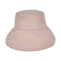 [바잘 벙거지 모자] 메탈 팁 오버핏 버킷햇 베이비 핑크