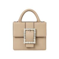 Lady Embellished Pocket Bag_Cream