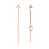 UNBALANCED TRIANGLE DROP EARRING_E377-WH