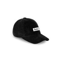 Sebs. CORDUROY_BLACK&WHITE BALL CAP