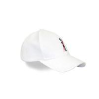 Sebs.Red COTTON_WHITE SMALL LOGO BALL CAP