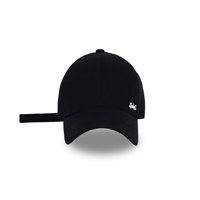 Sebs.Q COTTON_BLACK MINI LOGO BALL CAP