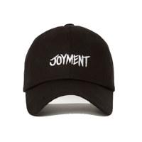 JOYMENT-COTTON FONT-05 BALL CAP(BK)