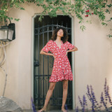 POPPY WRAP DRESS_M