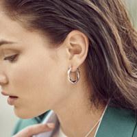 TWIST RING EARRINGS (스몰)_ANNA-1909-022-SL
